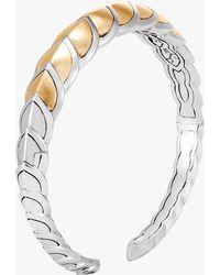 John Hardy - Naga Brushed Gold Cuff Bracelet - Lyst