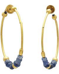 Gurhan - Delicate Rain Spring Hoop Earrings - Lyst