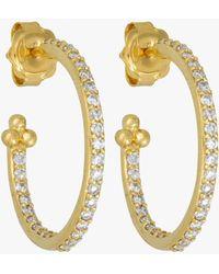 Temple St. Clair - Diamond Pavé Hoop Earrings - Lyst