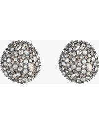 Alexis Bittar - Organic Pod Shape Crystal Encrusted Button Post - Lyst
