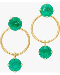 Yi Collection - Emerald Double Happiness Earrings - Lyst