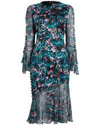 Prabal Gurung - Ruffle Cuff Long Sleeve Dress - Lyst