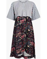 Carven - Mixed Print Dress - Lyst