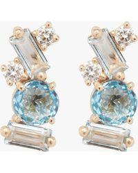 KALAN by Suzanne Kalan - Swiss Blue Topaz Stud Earrings - Lyst