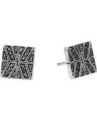 John Hardy - Modern Chain Silver Stud Earrings - Lyst