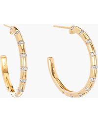Adina Reyter - Large Diamond Stripe Hoop Earrings - Lyst