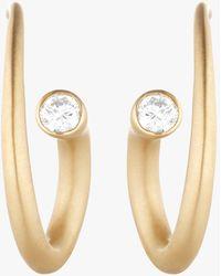 Carelle - Whirl Diamond Spiral Earrings - Lyst