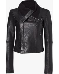 VEDA - Max Classic Leather Jacket - Lyst