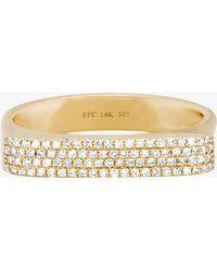 EF Collection - Diamond Jumbo Bar Ring - Lyst