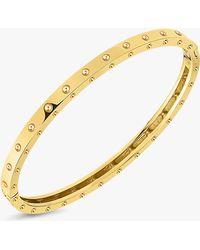 Roberto Coin - 18k Yellow Gold Symphony Pois Moi Bangle - Lyst