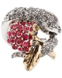 Roberto Cavalli - Ring With Snake And Blackberry - Lyst