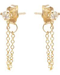 Zoe Chicco - Paris Chain Diamond Stud Earrings - Lyst