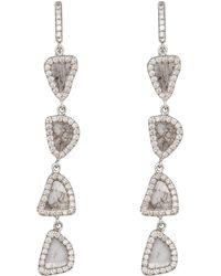 Nina Runsdorf - Four Tier Slice Diamond Earrings - Lyst