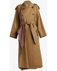 TOME - Scarf Lapel Trench Coat - Lyst