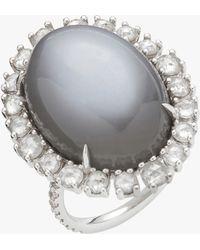Nina Runsdorf - Grey Moonstone Cushion Ring - Lyst
