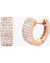 EF Collection - Diamond Jumbo Huggie Earrings - Lyst