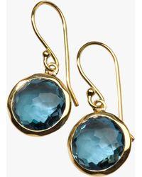 Ippolita - Lollipop London Blue Topaz Drop Earrings - Lyst