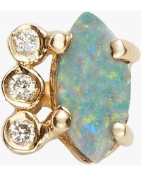 Jacquie Aiche - Diamond Opal Marquise Stud - Lyst