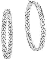 John Hardy - Modern Chain Hoop Earrings - Lyst