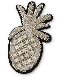 Oliver Bonas - Pineapple Embellished Statement Brooch - Lyst