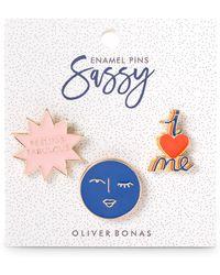 Oliver Bonas - Sassy Enamel Pin Pack - Lyst