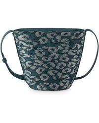 Oliver Bonas - Melina Leopard Jacquard Cross Body Bucket Bag - Lyst