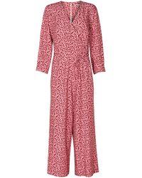Oliver Bonas - Cherry Pink Culotte Jumpsuit - Lyst