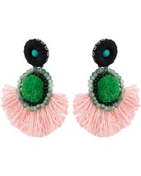 Oliver Bonas - Pizzazz Statement Rafia Tassel Drop Earrings - Lyst