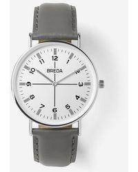 Breda - Silver / Grey Belmont Watch - Lyst