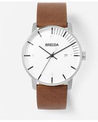 Breda - Silver Brown Phase Watch - Lyst