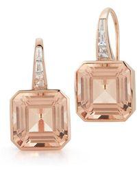 WALTERS FAITH - Ottoline 18k Morganite And Diamond Baguette Earrings - Lyst
