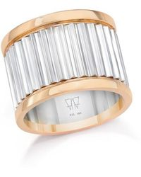 WALTERS FAITH - Clive Two Tone 15mm Fluted Band Ring - Lyst
