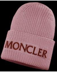 Lyst - Moncler Pom Pom Hat in Pink d66f67040e85