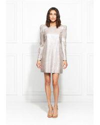 d4d92321d23a Self-Portrait Millie Layered Lace Dress - White in Black - Lyst