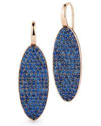 WALTERS FAITH - Lytton 18k Sapphire Oval Drop Earrings - Lyst