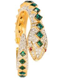 Kenneth Jay Lane - Crystal And Emerald Snake Bracelet - Lyst