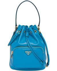 c001f8ec0a90 Lyst - Prada Cahier Cartoon Shoulder Bag in Blue