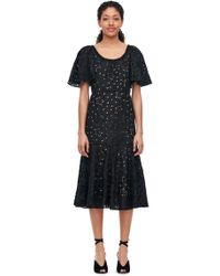 Rebecca Taylor - Sarah Embroidered Silk Dress - Lyst