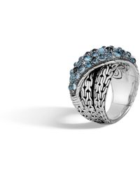 John Hardy - Classic Chain Overlap Ring With Mixed Blue - Lyst