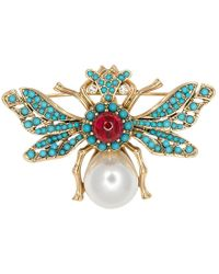 Kenneth Jay Lane - Antique Gold Bee Pin - Lyst