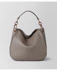 ddd2298260 Lyst - Bottega Veneta Dahlia Intrecciato Nappa Loop Bag in Brown