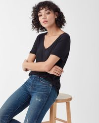 Splendid - The Deep V Tee - Lyst