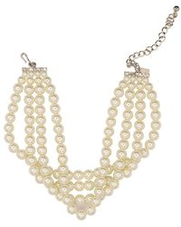 Kenneth Jay Lane - Pearl Choker Necklace - Lyst