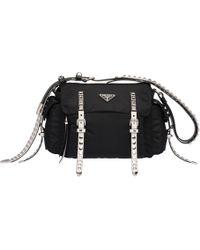 8b388acf979e Orchard Mile · Prada - Black Nylon Shoulder Bag - Lyst