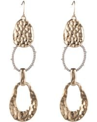 Alexis Bittar - Hammered Metal Link Drop Earring - Lyst