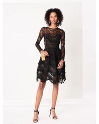 Oscar de la Renta - Wave Chantilly Lace Cocktail Dress - Lyst