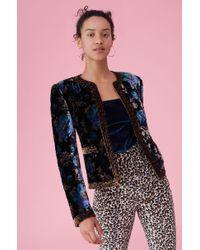 Rebecca Taylor - Solstice Floral Velvet Jacket - Lyst