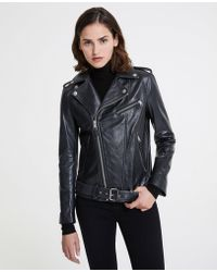 AG Jeans - The Reese Moto Jacket - True Black - Lyst