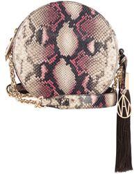 Amanda Wakeley - Raspberry Python Round Shoulder Bag - Lyst