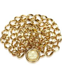 Chanel - Medallion Chain Belt - Lyst